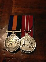 Replica Operational service Medal Border Protection & ADM miniature