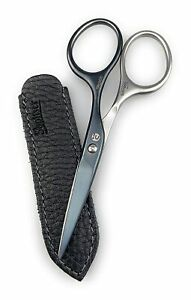 Mustache & Beard Scissors - Self-Sharpening Stainless Steel Titanium Germany