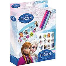 DISNEY congelato 3 Bracciale Set 18 Charms KID Creativo Regalo Anna Elsa crea la tua