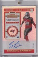 Shaquill Barrett 2019 Contenders Championship Ticket Refractor Foil Rc Auto /49