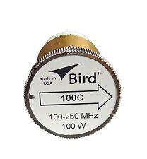 Bird 100C Plug-in Element 0 to 100 watts 100-250 MHz for Bird 43 Wattmeters
