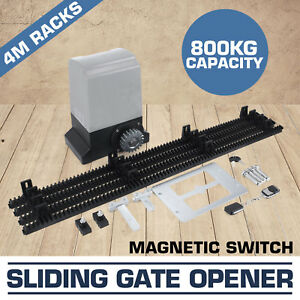 Sliding Electric Gate Opener 800KG Automatic Motor Remote Kit Heavy Duty Track