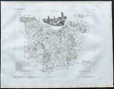 Eure - 1830 - Carte du département - Atlas Michel, Lorrain - Gravure