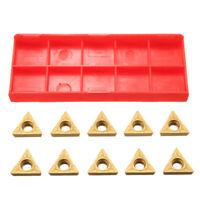 10 Pc 1/2 Lathe Indexable Carbide Inserts For Turning Tool Bit Holder Settkit