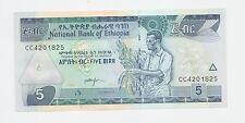 Banca nota ETIOPIA 5 birr NUOVO E CONIO