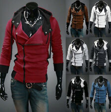 Stylish Creed Hoodie Coat Slim Mens Cosplay for Assassins Jacket Hooded Costume