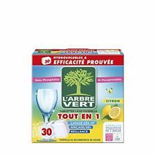 L'arbre vert Tablettes Lave Vaisselle Hydrosolubles Citron 30 Tablettes...