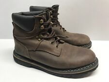 McRae Industrial Brown Leather Boots SZ 7.5 M  Oil/Slip Resistant