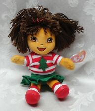 Retired 2006 TY Beanie Baby Holiday Dora the Explorer Christmas Girl MWMT Viacom