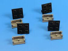 LEGO®  Winkel / Scharnier Platte  dunkelgrau / schwarz / 4 Stück