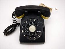 Western Electric C/D 500 Black Rotary Dial Desk Phone R1269
