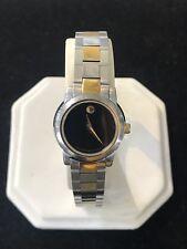 MOVADO  81E41846 SIlver Gold Tone Black Dial Women's Watch