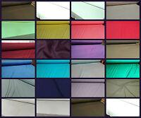 Plain Viscose Jersey Stretch Lycra Fabric Cotton Material 31 COLOURS