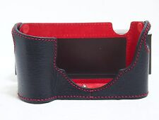 Ciesta Leica M8/M9/M-E Camera Leather Case Black/Red Color