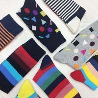 Men's Cotton Blend Socks Warm Fancy Crew Fashion Design Casual Dress Socks