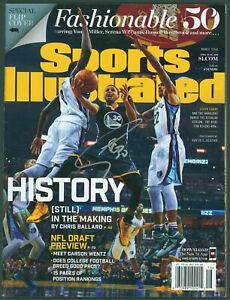 Warriors Stephen Curry Signed 2016 Sports Illustrated Magazine BAS #X117179