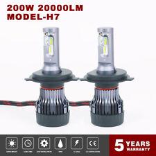 2x H4 9003 HB2 200W 20000LM LED Headlight Bulb 6500K Turbo Hi/Low Beams 8FP