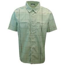 Columbia Men's Mint Green Plaid Thirty Mile Ledge EXS S/S Woven Shirt (355)