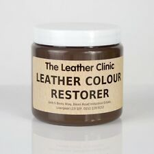 DARK BROWN Leather Colour Dye Restorer Repair faded & worn leather Sofas Chairs