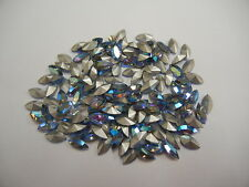 72 swarovski navette stones,10x5mm light sapphire AB/foiled #4200
