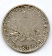 TRES RARE MONNAIE DE 1 FRANC SEMEUSE ARGENT DE 1903 N°5