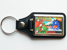 YOSHIS ISLAND Super Nintendo SNES Cover Art Quality Chrome And Leather Keyring