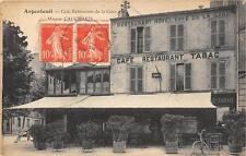CPA 95 ARGENTEUIL CAFE RESTAURANT DE LA GARE MAISON CAUCHARD