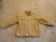 Men's Levi Strauss & Co.100% Cotton Corduroy Shirt/Jacket Heavy Lining XXL Khaki