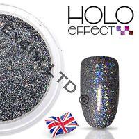 GREY HOLO LASER MERMAID EFFECT NAIL ART POWDER  GEL & ACRYLIC Holographic