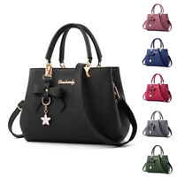 Women PU Leather Handbag Shoulder Messenger Satchel Tote Crossbody Bags Purse