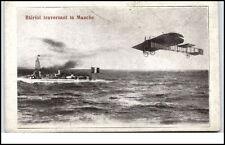 ~1915 Flugzeug CPA France Ascension Louis Blériot traversant la Manche Schiff