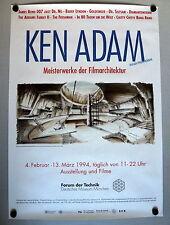 JAMES BOND 007 * KEN ADAM /Szenenbildner - PLAKAT 83x59cm A1 gerollt 1994