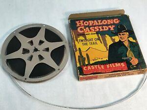 """Vintage, Castle Films,""""Hopalong Cassidy, Border Justice"""" movie 8mm Reel"""