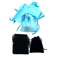 100Pcs Mini Velvet Bags Jewelry Drawstring Bag Gift Pouch Sack 5x7cm 2Colors