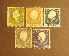 Iceland #86-90 Used F-VF