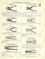 1920s Antique Hardware Ad Farrier Knives Parers Pliers Nippers Pincers Clippers
