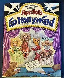 Teddy Bear and Friends Go Hollywood Paper Dolls, Signed by Peggy Jo Rosamond '86