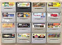Lot jeux SNES Super Famicom japonais x16 Cartouches seules NTSC-J