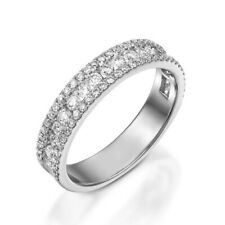 14K White Gold Ring 6 7 8.5 0.72 Ct Diamond Wedding Women's Eternity Band Solid