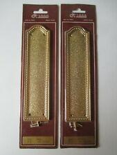 2 plaques de propreté en laiton emballé doré or fin