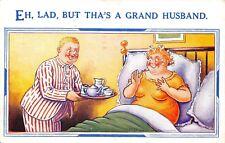 POSTCARD  COMIC   HUMORESQUE   Husband  Tea  in  Bed