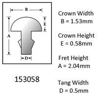 Sintoms 18% Nickel Silver Fret Wire 1.5mm. Set of 12 pieces