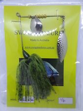 SWAGMAN LURES 1/4oz spinnerbait. Aussie made