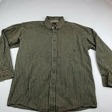 Ariat Pro Series Button Down Shirt Large Brown Button Front Western Pocket