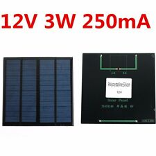 Solar Panel Module for Light Battery Cell Phone Charger Portable 12V 3W DIY