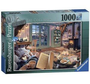 Ravensburger My Haven No.6 The Cosy Shed 1000 Piece Jigsaw Puzzle, Cosy Home