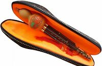 Bamboo 3 Octaves Chinese Hulusi Flute Woodwind with case