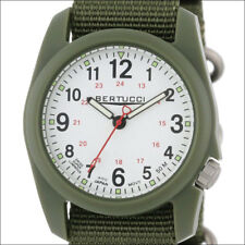 Bertucci DX3 Field Watch, 40mm Green Resin Case, Olive Green Nylon Band #11019