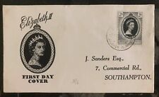 1953 Solomon Islands Coronation first day cover FDC Queen Elizabeth II QE2 To Uk