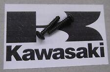 Genuine Kawasaki Phillips Cabeza Auto-Roscado Tornillo Negro 3x16mm 92009-1164 2-Pack
